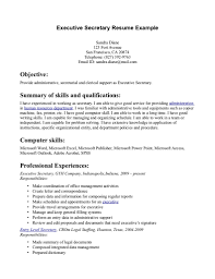 example secretary resumes template example secretary resumes
