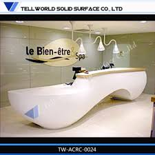 round curved reception desk with white counter top marble office desk marble reception desk china ce approved office furniture reception desk