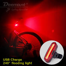 Deemount 100 LM Rechargeable <b>COB LED</b> USB Mountain <b>Bike</b> Tail ...