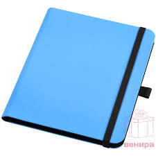 """Папка для планшета """"Verve"""" с блокнотом, синяя с логотипом ..."""