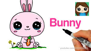 How to Draw a <b>Cartoon Bunny Rabbit</b> Easy - YouTube