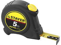 <b>STAYER АutoLock</b> 5м / 25мм <b>рулетка</b> с автостопом — купить в ...