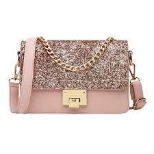 Goodbag Boutique Women Sparkly Sequin Chain ... - Amazon.com