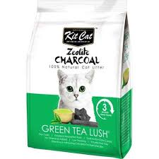 <b>Kit Cat Zeolite</b> Charcoal Green Tea Lush Cat Litter 4kg – Pawpy ...