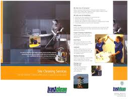 trustclean office commercial janitorial services brochure