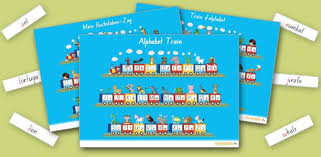 Alphabet poster- <b>animal train</b>