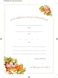 wedding invitation templates that are cute and easy to make open