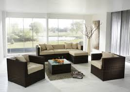 interior design captivating living room design glass curtain walls brown sofa whtie cushions smooth rug living beautiful simple living