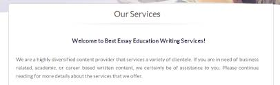 bestessayeducation review   top college writing services review education is one of the best websites for essay at producing custom writing papers which mean that writers are personally assigned to clients based on