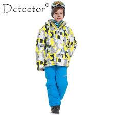 <b>Detector</b> New <b>Kids Boys Winter Clothing</b> Set Skiing <b>Jacket</b> Pant ...