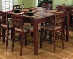Dining Room Table And 8 Chairs Counter Counter Height Dining Chairs Decorations Great Wooden 7