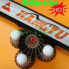 2tubes Genuine HANGYU NO.4 badminton shuttlecocks ... - Qoo10