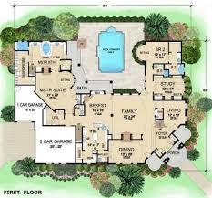 Villa Visola House Plan   Mansion Houses  Mansions and House plansLuxurious Mediterranean Mansion House Plan Villa Visola First Floor