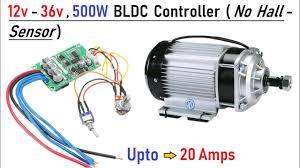 Wooow ! 12v to 36v 500w <b>Brushless DC Motor</b> Controller - Run ...