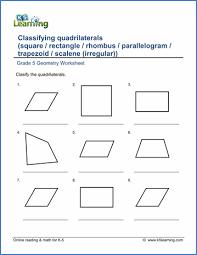 Grade 5 Geometry Worksheets - free & printable | K5 LearningGrade 5 Geometry Worksheet