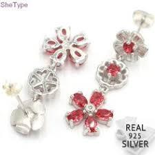 <b>Clear</b> CZ Knotted Heart Stud Earrings Silver 925 Jewelry Women ...