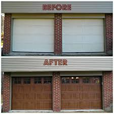 One Simple Change Transformed This Newly Constructed Home Into A - Exterior garage door
