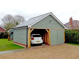 timber garage cartlodge bespoke brickwork garage office
