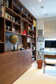 bespoke home office in walnut veneer 1 bespoke home office