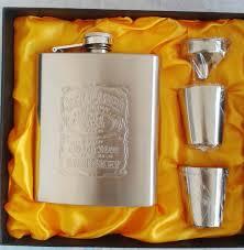Stainless Steel <b>Hip Flask</b> Flasks for Liquor Gift <b>Set</b> with Bonus ...
