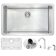 anzzi vanguard x single bowl undermount kitchen sink and anzzi vanguard 32 quot x 19 quot single bowl undermount kitchen sink and faucet set