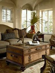 room vintage chest coffee table: fabulous trunk coffee table with turned feet zebra chairand muted
