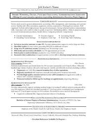 admin sample sample resume of executive assistant