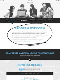 college school amino fountainhead essay contest