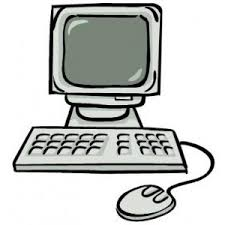 Image result for black and white cartoon computer