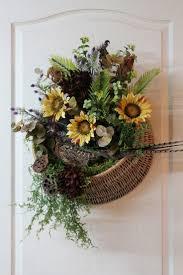 floral wall front door