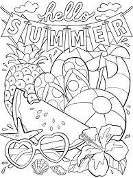 <b>Hello Summer</b> Coloring Page | crayola.com
