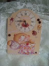"<b>Часы</b> "" <b>Мишка</b>-сладкоежка""2 | Clock, <b>Wall clock</b>, Decoupage"