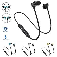BT 4.1 <b>Stereo Earphone Headset</b> Wireless Magnetic <b>In Ear Earbuds</b> ...