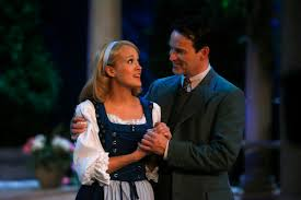 live sound of music broadcast gets strong ratings carrie underwood as maria stephen moyer as captain von trapp in nbc s live broadcast of