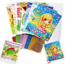 lizipai Mosaic Sticker Art for Kid Glitter Handmade ... - Amazon.com