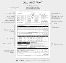 creating professional call sheets excel template call sheet template breakdown for film and television production