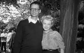 marilyn monroe arthur miller muses lovers the red list arthur miller and marilyn monroe at miller s house in roxbury a few hours before their