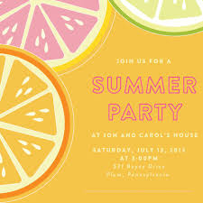 summer bbq party invitation template invitations card template summer bbq party invitation template