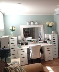 mirrored furniture ikea makeup organization eas with large drawer and white color table small makeup vanity bedroomlovable ikea office chairs