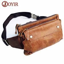 <b>JOYIR Genuine Leather</b> Men Waist Packs Travel <b>Chest</b> Bag Unisex ...