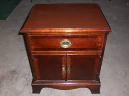 description quality stanley furniture cherry wood night stand great condition cherry wood furniture