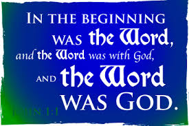 Image result for images:   In the beginning was the Word.