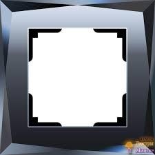 <b>Рамка Werkel Diamant</b> на 1 пост черный WL08-Frame-01 ...
