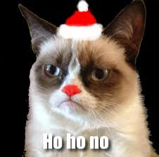Hate the Holidays with the Grumpy Cat Internet Meme - Socialeyezer via Relatably.com