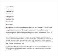 resignation letter template 28 free word excel pdf documents resignation retirement letter