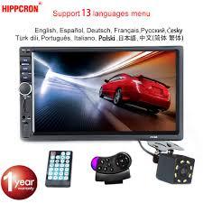 "Hippcron Car Radio MP5 <b>2 Din</b> Bluetooth <b>HD</b> 7"" Touch Screen ..."