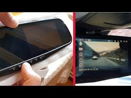 "<b>Jansite</b> Rearview Mirror Car DVR 4.3"" <b>Touch</b> screen Dual Lens ..."