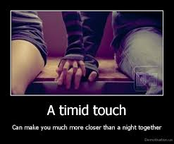 A timid touch | Demotivation.us via Relatably.com