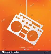 Retro <b>tape recorder</b>, <b>hipster</b> style Stock Vector Image & Art - Alamy