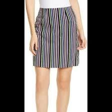 Женская <b>юбка</b> Hugo <b>Boss</b> Rinetta Striped <b>A Line</b> Skirt Mini Party ...